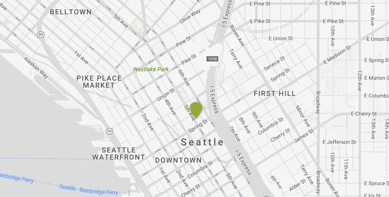 Seattle Attractions Map | Kimpton Hotel Vintage Seattle